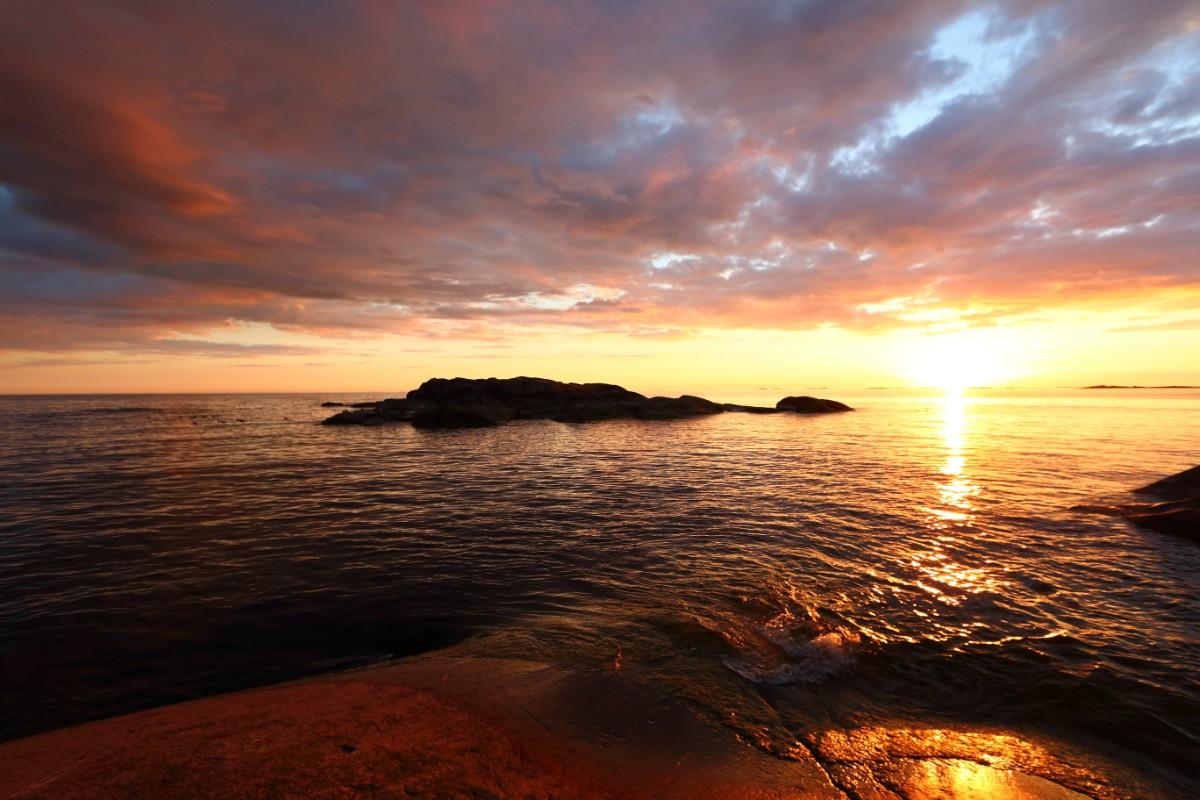 Foto av solnedgång.