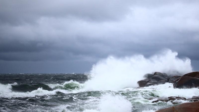 Photo of breaking waves.