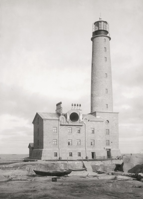 Photo of finished lighthouse.