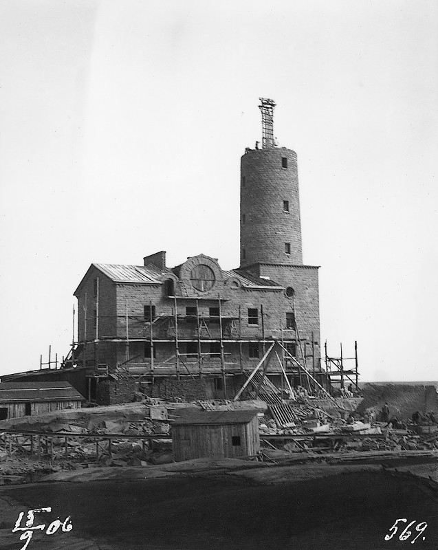 Photo of tower being built.