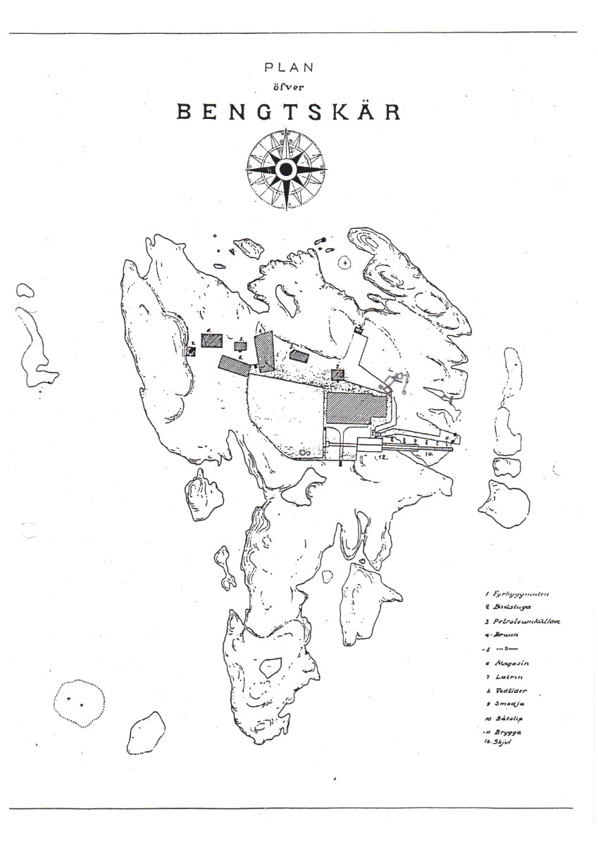 Old technical drawing of the island.