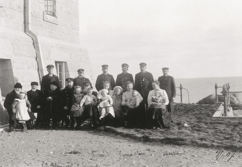 Photo of lighthouse keepers.
