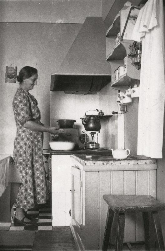 Foto av gammalt fyrvaktarkök.