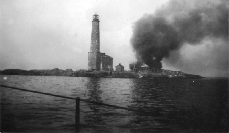Photo of island during the war.