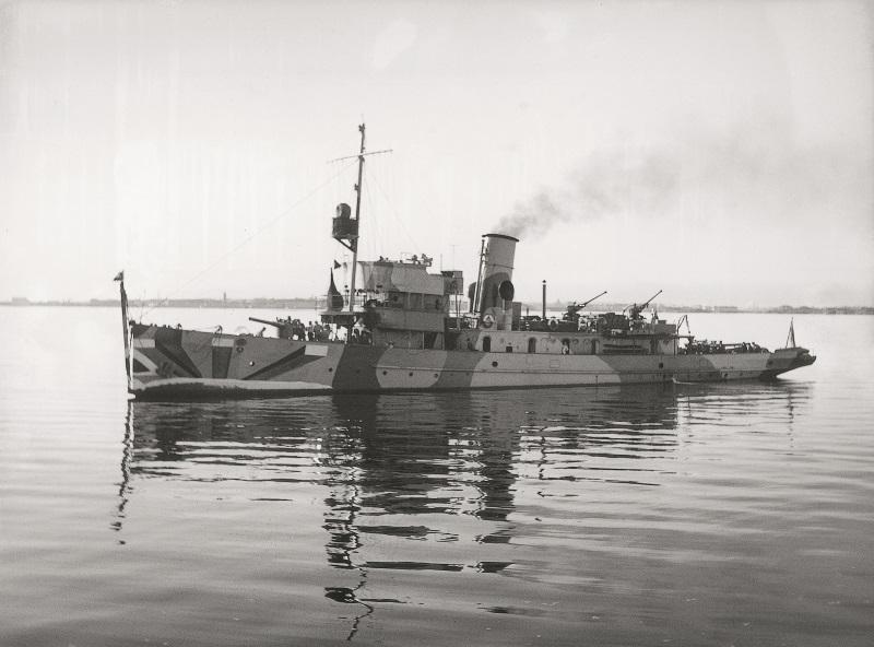 Foto av minfartyget Hämeenmaa.